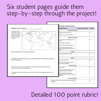Endangered Species Project | Human Impact on the Environment - Differentiated!