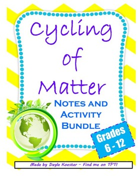 Ecology Lessons- Cyling of Matter Bundle  (Guided Notes & Activities)