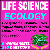 Ecology | Life Science | 160 Questions [MCQs] | 8 Tests | Grade 7