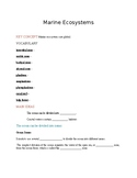 Ecology - Marine ecosystem notes
