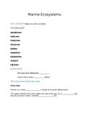 Ecology - Marine ecosystem notes