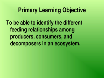 Ecology Notes PowerPoint