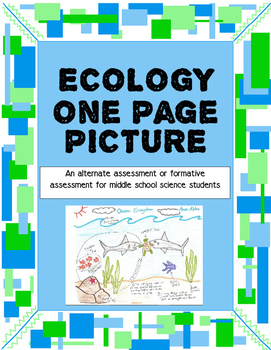 Ecology One Page Picture for Middle School Science