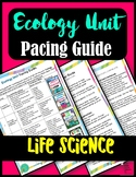 Ecology Pacing Guide: Life Science/Biology Unit