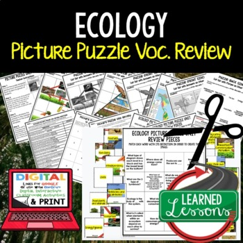 Ecology Picture Puzzle Study Guide Test Prep
