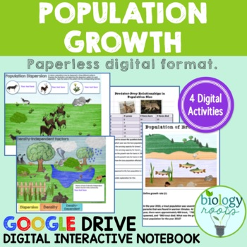 Ecology Population Growth- Digital Interactive Notebook