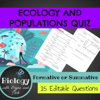 Ecology / Populations Quiz