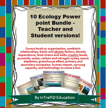 Ecology Power Point bundle with Student Versions!