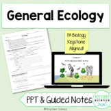 Ecology PowerPoint Guided Notes with KEY Biology Keystone Aligned