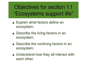 Ecology PowerPoint Presentation Unit 1 (1 of 3 Ecology units)