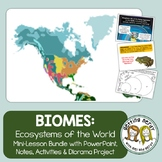 Ecosystems and Biomes of the World - Ecology PowerPoint and Handouts