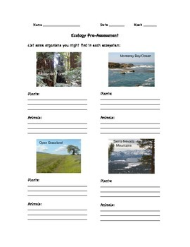 Ecology Pre-Assessment