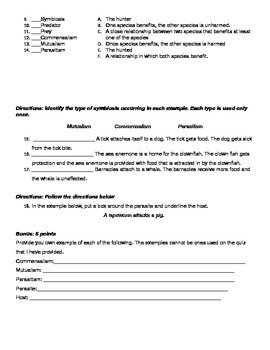 Ecology Quiz 2