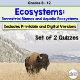 Ecology -  Biomes Quiz Set