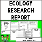 Ecology Project   Ecology Research Report