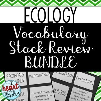 Ecology Review Activity BUNDLE