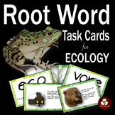 Ecology Root Word Vocabulary Task Cards