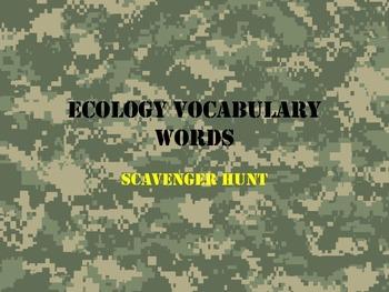 Ecology Scavenger Hunt