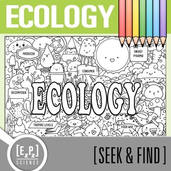 Ecosystems Seek and Find Science Doodle Page