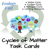 Ecology Task Cards: Cycles of Matter (Water, Carbon, Nitro