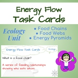 Ecology Task Cards: Energy Flow (Food Chains, Food Webs, E