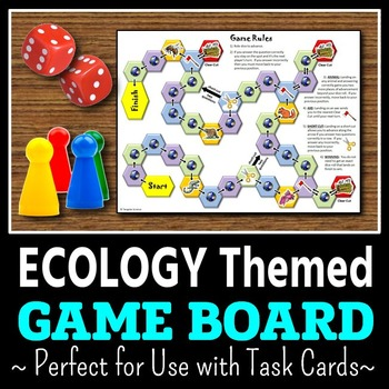 Ecology Task Cards Game Board