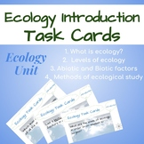 Ecology Task Cards: Introduction