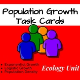 Ecology Task Cards: Population Growth (Exponential and Log