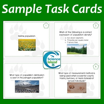 Ecology Task Cards: Populations and Communities