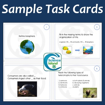 Ecology Task Cards: The Biosphere