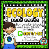 ECOLOGY Task Cards for Middle and High School Biology Life Science