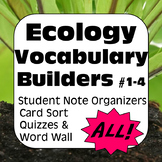 Ecology Terms ALL: Glossary of Terms, Quizzes, & Word Wall