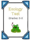 Ecology Test: Grades 3-5