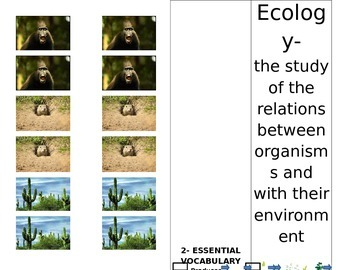 Ecology Unit Booklet