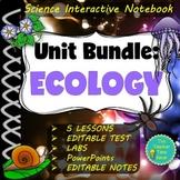 Ecology Unit Bundle (Presentation, Notes, Test, Activities