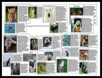 Ecology Unit - Endangered Animals - Earth Day