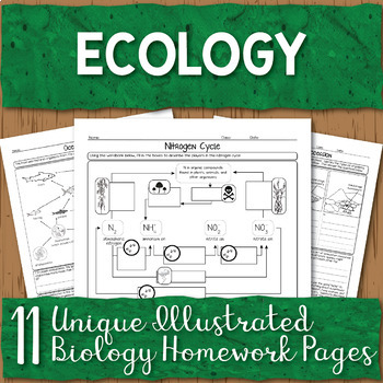 Ecology Unit Homework Pages