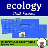 Ecology Unit Jeopardy Review Game