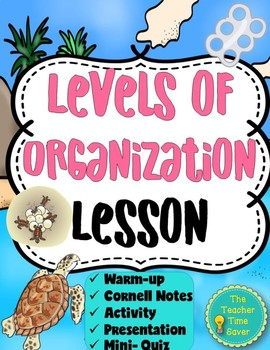 Ecology Unit: Levels of Organization Lesson (Notes, Activity, and Presentation)