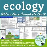 Ecology Unit  Bundle - supports distance learning