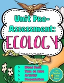 Ecology Unit Pre-Assessment or Warm-ups with Editable Unit Cover