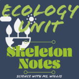 Ecology Unit Scaffold Notes // Biology
