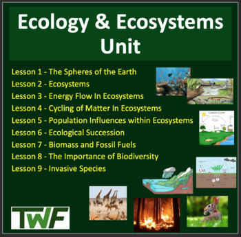 Ecology Unit: Complete Sustainable Ecosystems Unit -Lessons,Tests and Activities