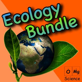 Ecology Unit Bundle: Power Point, Self-Grading Worksheets & Posters (No-Prep)