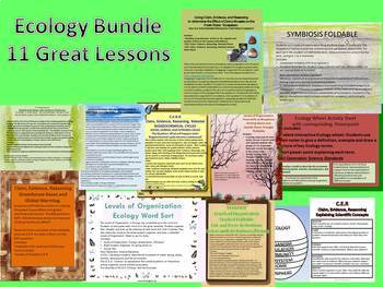 Ecology Unit Zipped Bundle of 11 Lessons and Claim,Evidence,Reasoning Activities