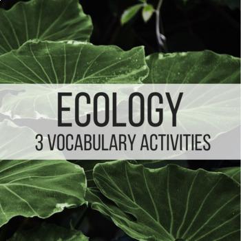 Ecology Vocabulary Activities