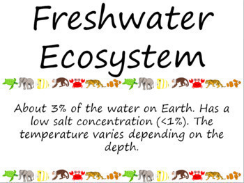 Ecology Word Wall Vocabulary Cards