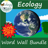 Ecology Word Wall Vocabulary Cards Bundle