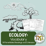 Ecosystems and Ecology Vocabulary - Distance Learning + Digital Lesson