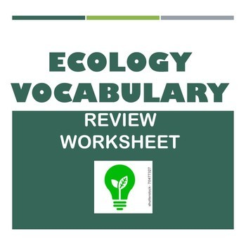 Ecology Vocabulary Review